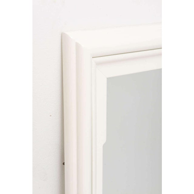White Dorothy Draper Hollywood Regency Art Deco Style Mirror in White Lacquer For Sale - Image 8 of 11