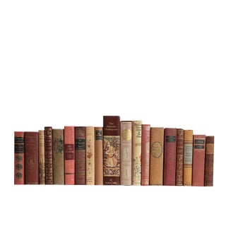 Caramel & Rose Classics - Twenty Decorative Books For Sale