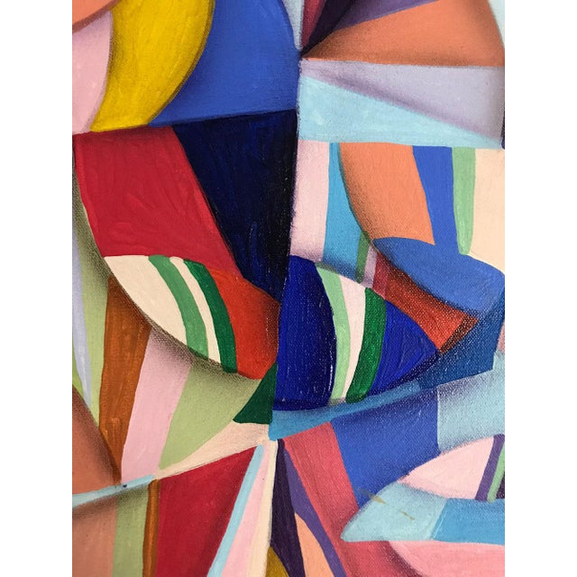 Paint 1994 Abstract Geometric Painting by Susan Johnson For Sale - Image 7 of 10