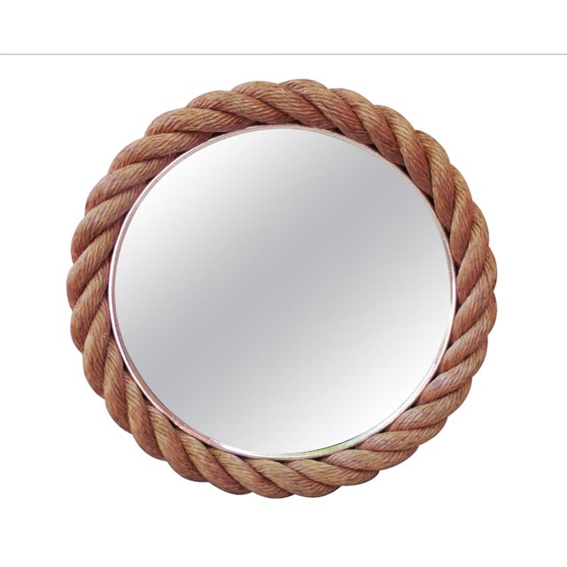 Adrien Audoux and Frida Minet 1960s Vintage Audoux Minet Rope Mirror For Sale - Image 4 of 4