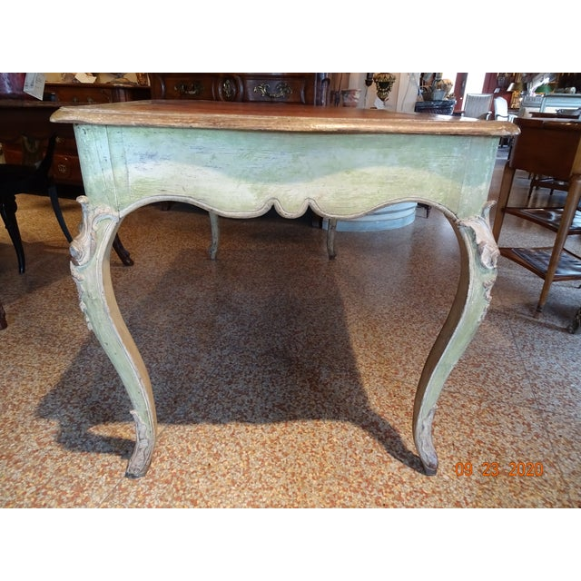Mid 19th Century 19th Century French Writing Desk With Leather Top For Sale - Image 5 of 13