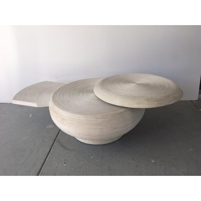 Gabriella Crespi Style Bamboo Swivel Coffee Table - Image 4 of 5