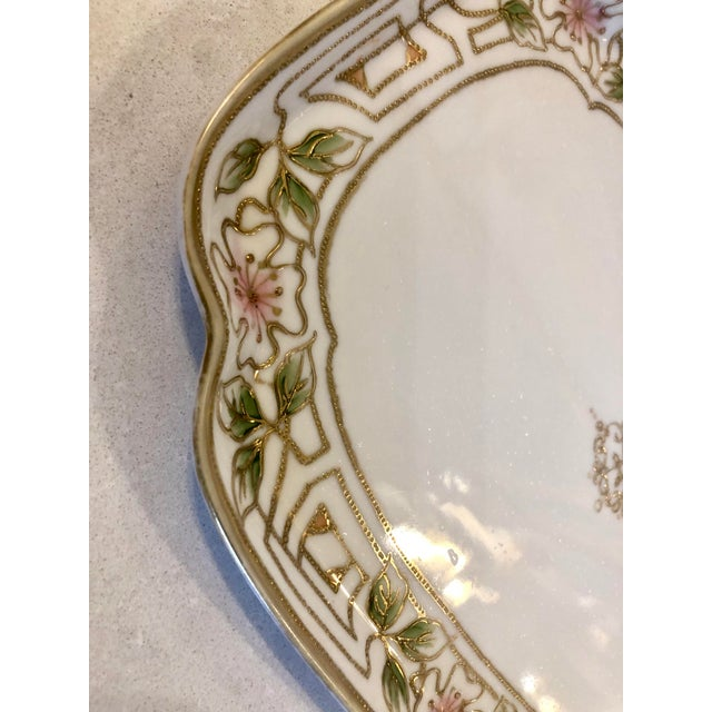 White Morimura Nippon Moriage Dressing Table Tray For Sale - Image 8 of 11