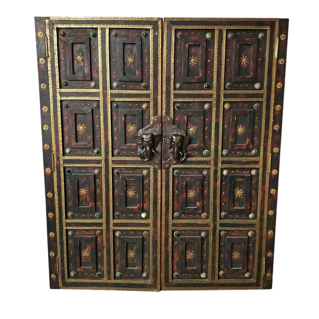 1980s Vintage Ornate Panel Door Set- A Pair For Sale