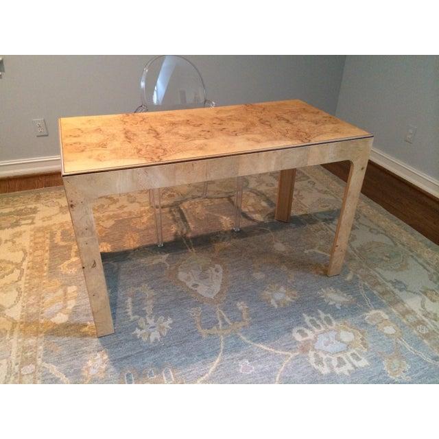Contemporary Parsons Style Burlwood Henredon Desk For Sale - Image 3 of 3