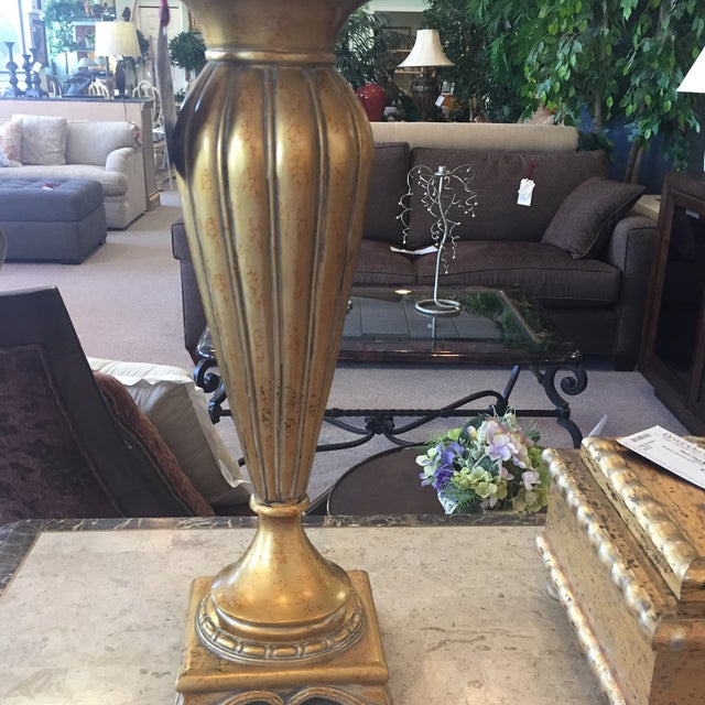 Pair of Gold and Ivory Table Lamps - Image 4 of 4