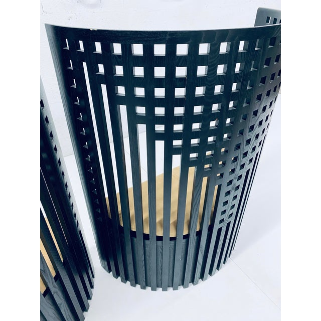 Black Charles Rennie Mackintosh Willow Chairs - a Pair For Sale - Image 8 of 13