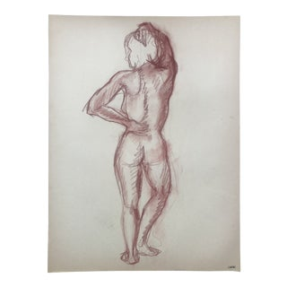 Standing Female Nude Drawing For Sale