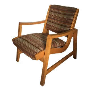1950s Jen Risom for Knoll Mid Century Modern Birch Armchair For Sale