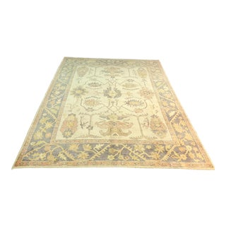1980s Turkish Oushak Rug - 9′3″ × 12′2″ For Sale