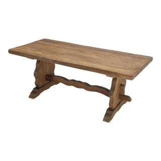 Early 20th Century Country French Trestle Dining Table For Sale