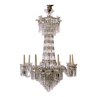 Antique English Georgian Crystal Chandelier, Circa 1820-1830. For Sale