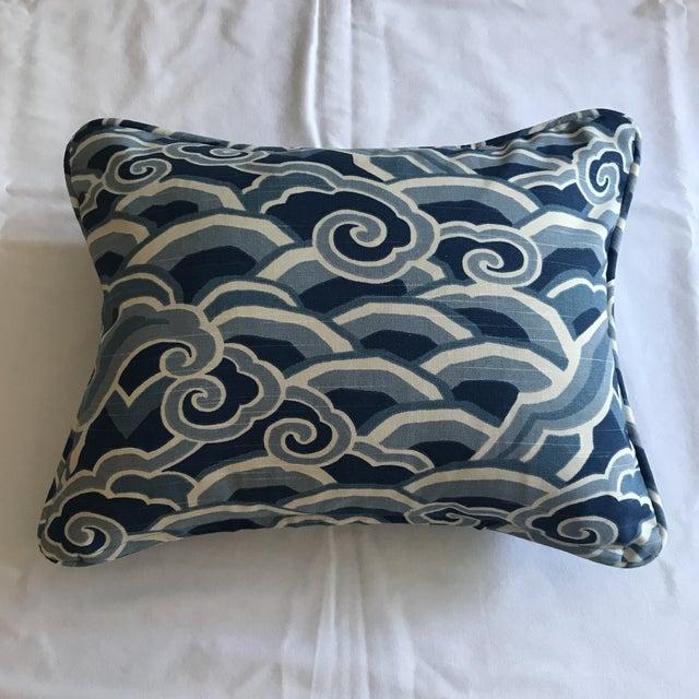 Blue Sarah Richardson for Kravet Lumbar Pillow For Sale - Image 8 of 8