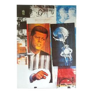 """Robert Rauschenberg Rare 1993 Collector's Lithograph Pop Art Print """" Retroactive """" 1964"""