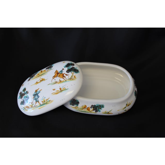Vintage Ernan Albisola Italian Ceramic Lidded Trinket Box For Sale In Dallas - Image 6 of 11