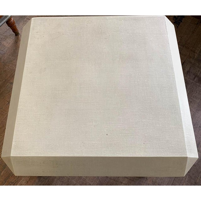 Mid 20th Century Mid Century Karl Springer Off White Table For Sale - Image 5 of 9