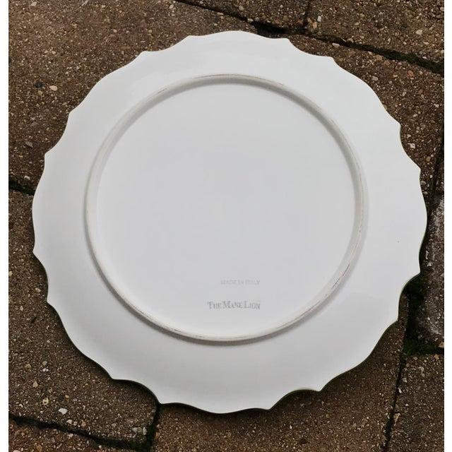 Ceramic Italian Ceramic Majolica Trompe L'oeil Lemons Serving Platter With Bowl For Sale - Image 7 of 8