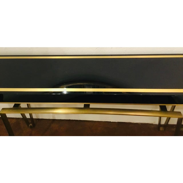 Caracole Caracole Signature Classically Modern Black and Gold Moderniste Console Table For Sale - Image 4 of 7