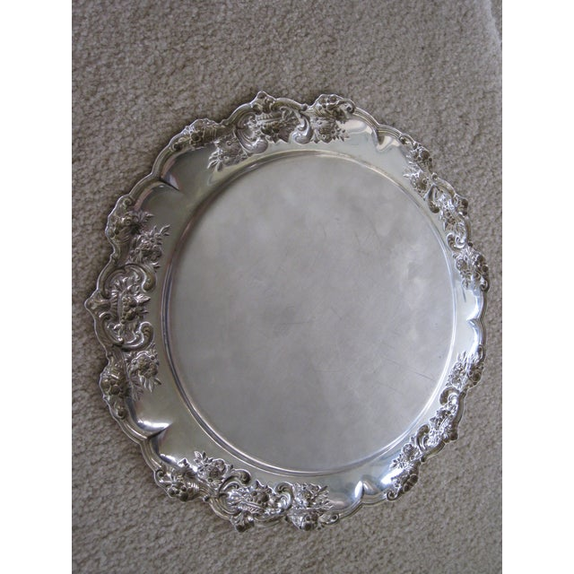 """Sterling Round 12"""" Charger With Cornicopia For Sale In Orlando - Image 6 of 7"""