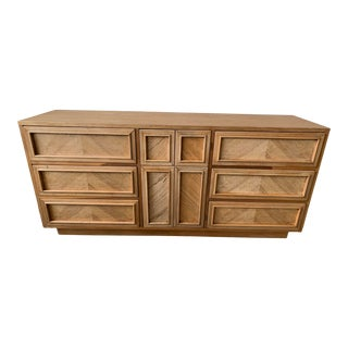 Herringbone Lowboy Dresser by American of Martinsville For Sale