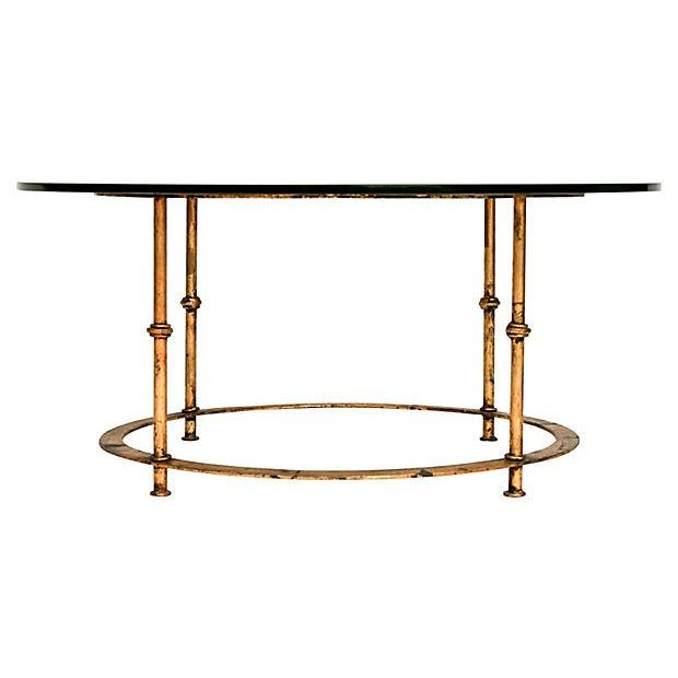 Gilded Bamboo-Style Coffee Table - Image 1 of 8