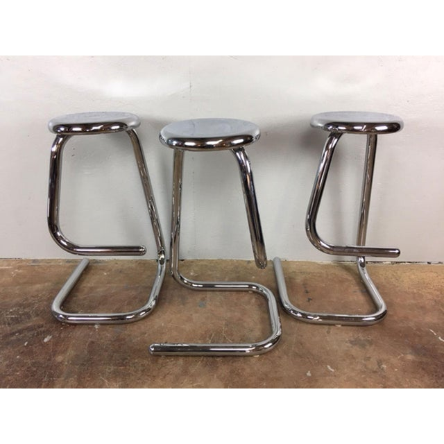 Paperclip Counter Stools - Set of 3 - Image 2 of 9