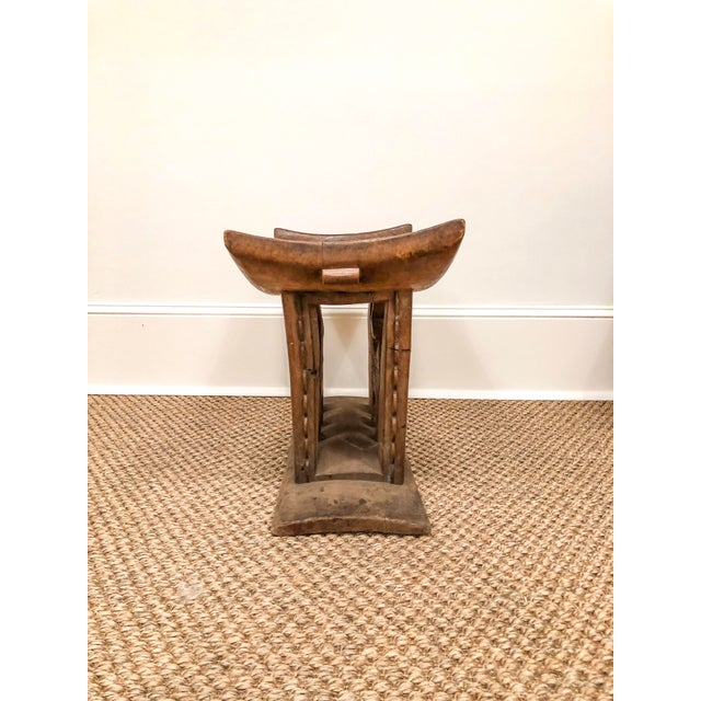1950s 1950s Vintage Wood Carved Ashanti Stool For Sale - Image 5 of 7