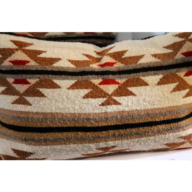 Pair of Navajo Indian Weaving Bolster Pillows For Sale - Image 4 of 5