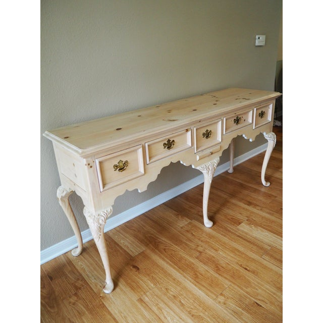 This unique vintage console table, credenza is made by Lexington and designed by Link-Taylor. It is a gorgeous piece that...