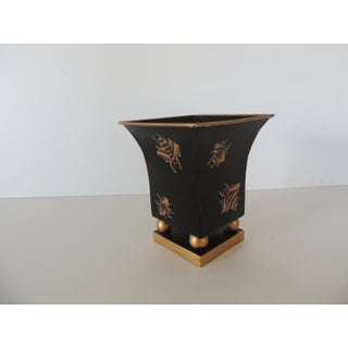 Black and Gold Tole Petite Catchepot With Bees Preview
