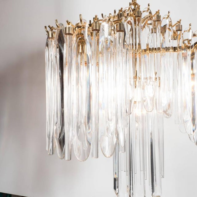 Gold Mid-Century Draped Design Chandelier by Lobmeyr, 24-Karat Gold-Plated Fittings For Sale - Image 8 of 10