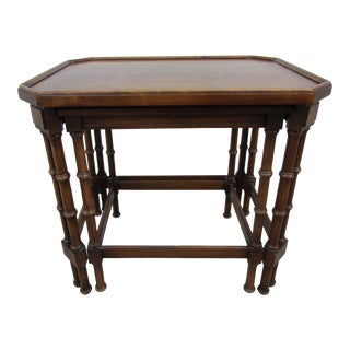 Brandt Faux Bamboo Nesting Tables -Embassy Collection For Sale