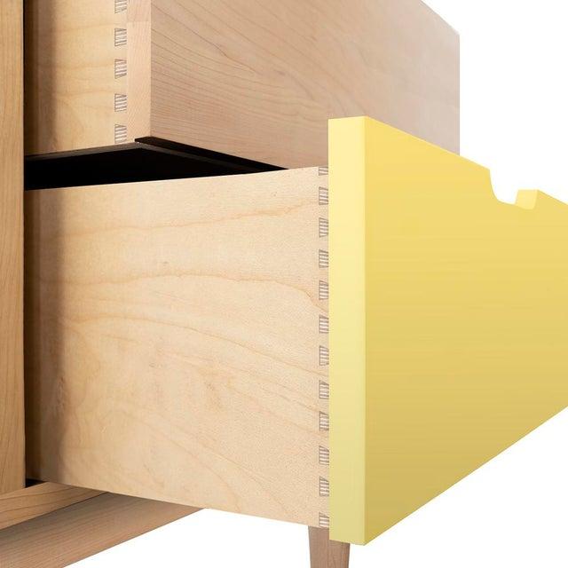 Nico & Yeye Nico & Yeye Kabano Modern Kids 3-Drawer Dresser Solid Maple and Maple Veneers Yellow For Sale - Image 4 of 5