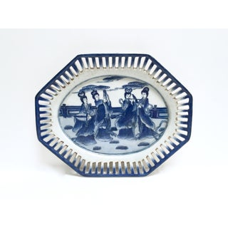 Blue and White Chinoiserie Platter Tray Preview