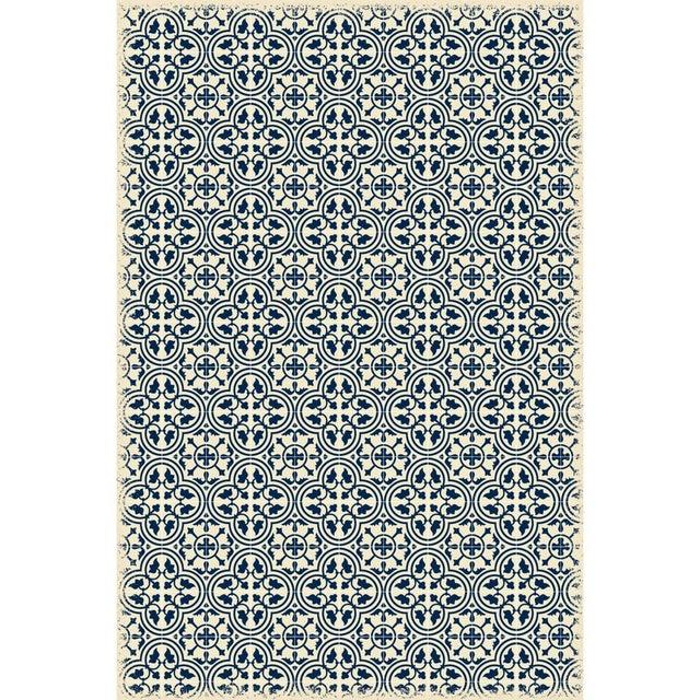 Modern Blue & White Quad European Design Rug - 4' X 6' For Sale - Image 3 of 3
