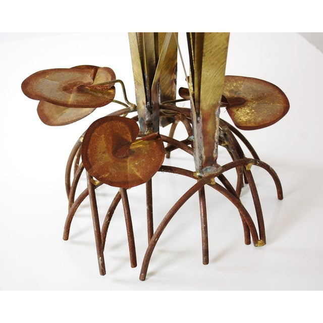 Mid Century Kinetic Sculpture of Cattails For Sale - Image 4 of 6
