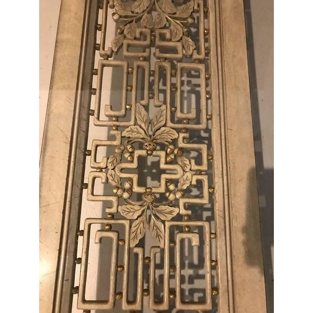 Mid-Century Brass and Giltwood Coffee Table - Image 7 of 9