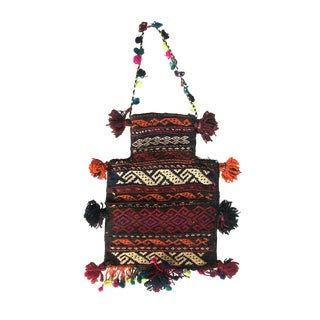 Vintage Afghan Tribal Carpet Kilim Salt Bag For Sale