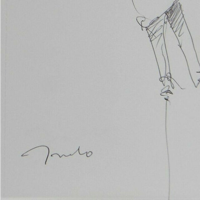 Jose Trujillo Expressionist Modern Figure Contemporary Pen Ink Drawing on Paper For Sale - Image 4 of 4