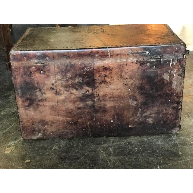 Antique Bishop's Trunk For Sale - Image 4 of 5
