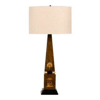 1910s Edwardian English Obelisk Table Lamp For Sale
