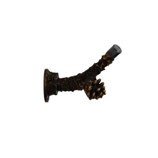 Lodgepole Branch Door Stop with Traditional Patina For Sale