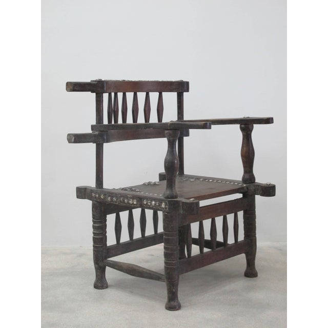 Rare 1950s Ashanti Throne Chair For Sale In Miami - Image 6 of 10