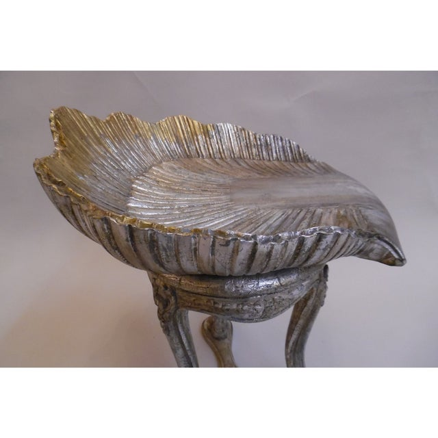 19th Century Italian Silver and Gold Gilt Cherrywood Grotto Seat For Sale In Chicago - Image 6 of 8
