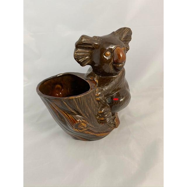 1970s Haeger Koala Planter Brown For Sale - Image 5 of 13