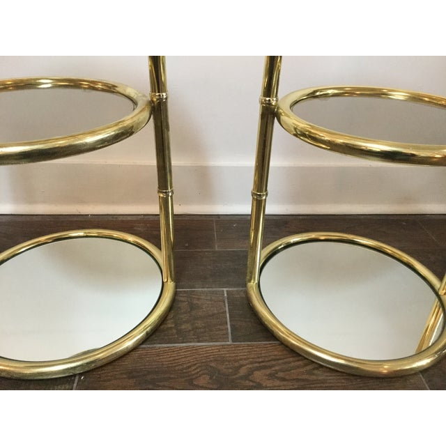1970's Swivel Brass Side Tables - Image 7 of 11