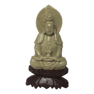 Antique Soapstone Buddha Figure For Sale