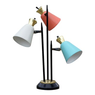 Mid-Century Modern Enamel Table Lamp For Sale