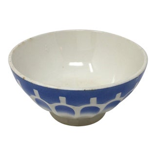 Vintage French Cafe Au Laities Bowl For Sale