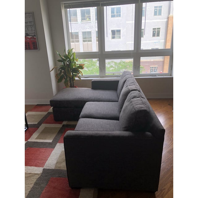 2010s Crate & Barrel Lounge II Petite 2-Piece Sectional Sofa For Sale - Image 5 of 6